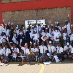 Nairobi Academy students visit Chandaria Industries factory
