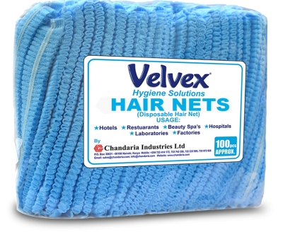 Velvex Hair Nets - Blue