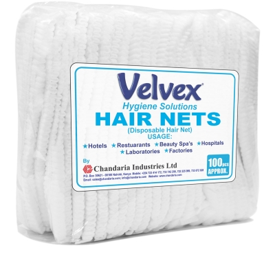 Velvex Hair Nets - White